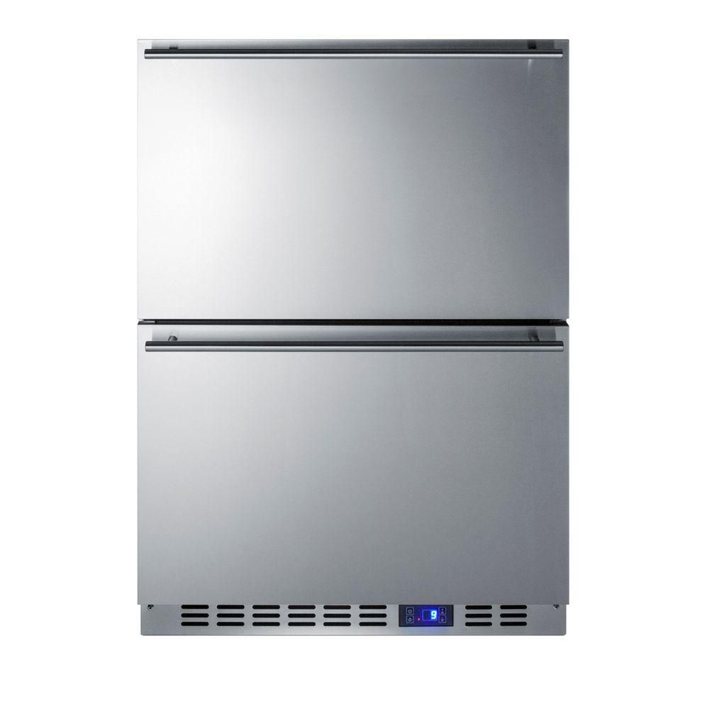 Upright Freezer In Stainless Steel