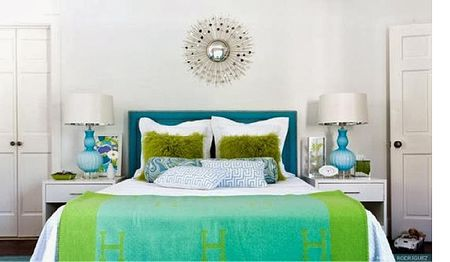 Ogous Color Schemes Are Failproof Green And Blue Bedroom