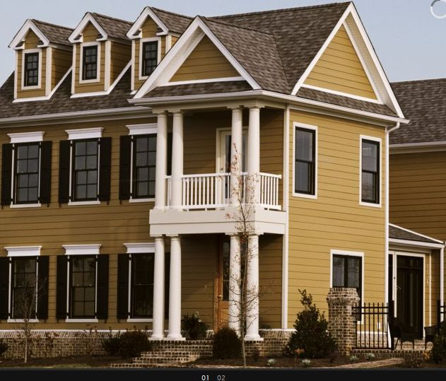 Give Fantastic Look To Your Home With Good Home Exterior: Rich, Maple House Siding Stain Color