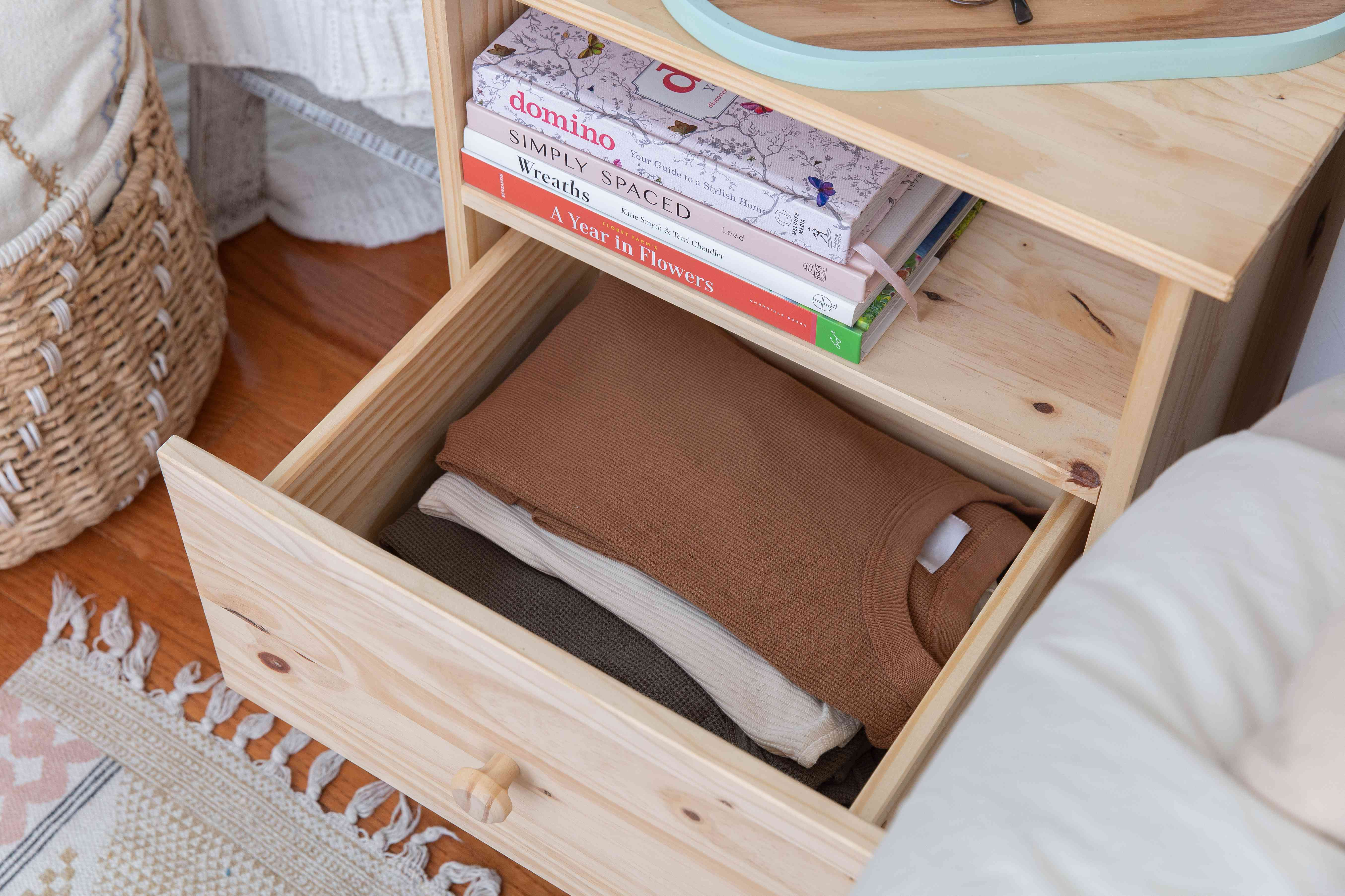 functional nightstand with storage