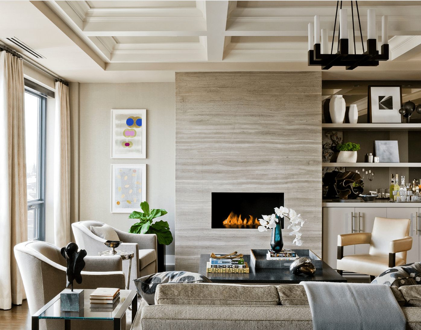 11 Beautiful Living Rooms With Fireplaces