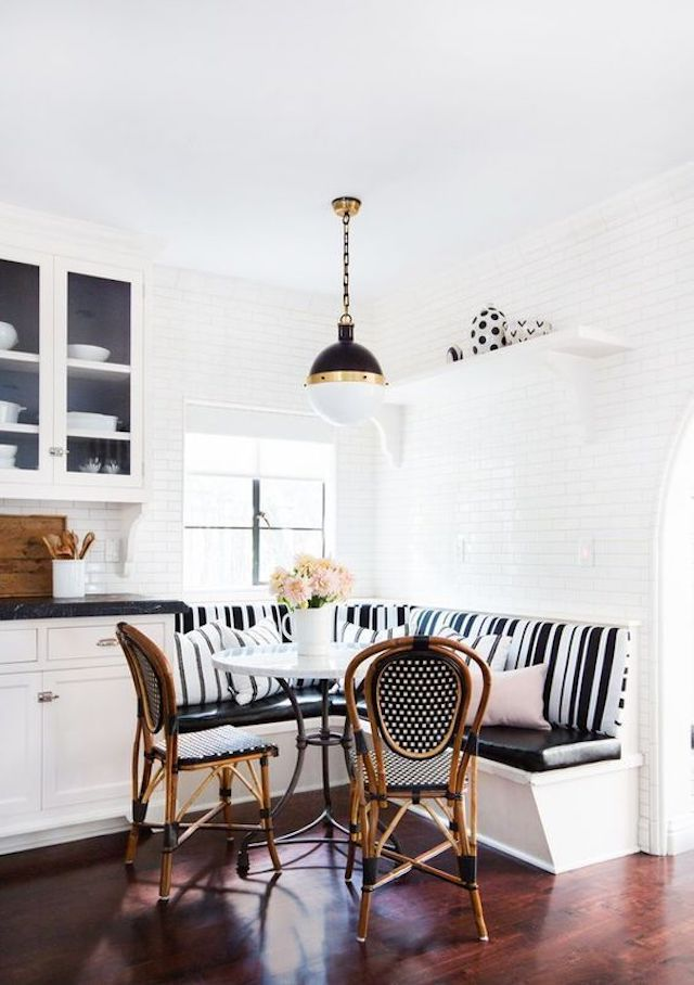 Patterned breakfast nook