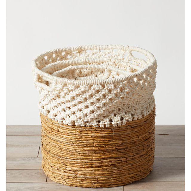 A set of 3 woven baskets