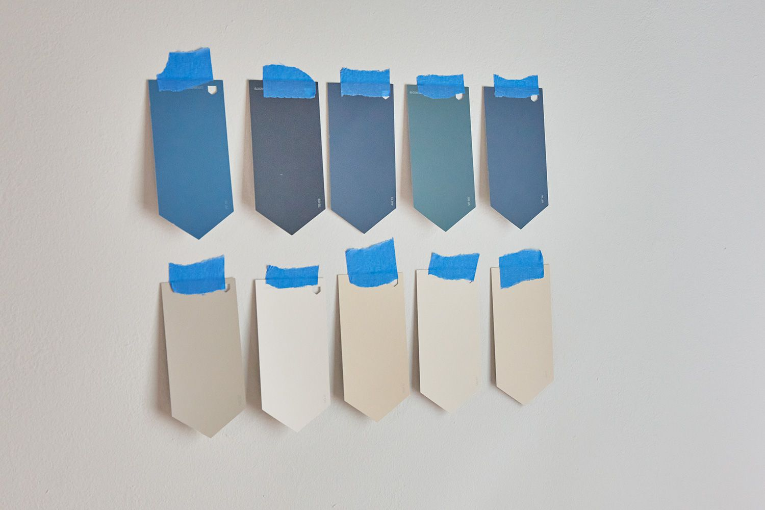 Wall paint swatches