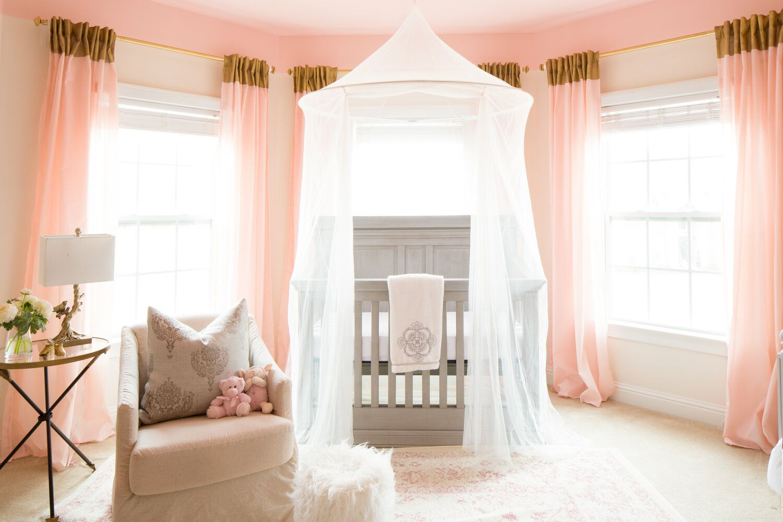 Pastel pink nursery room