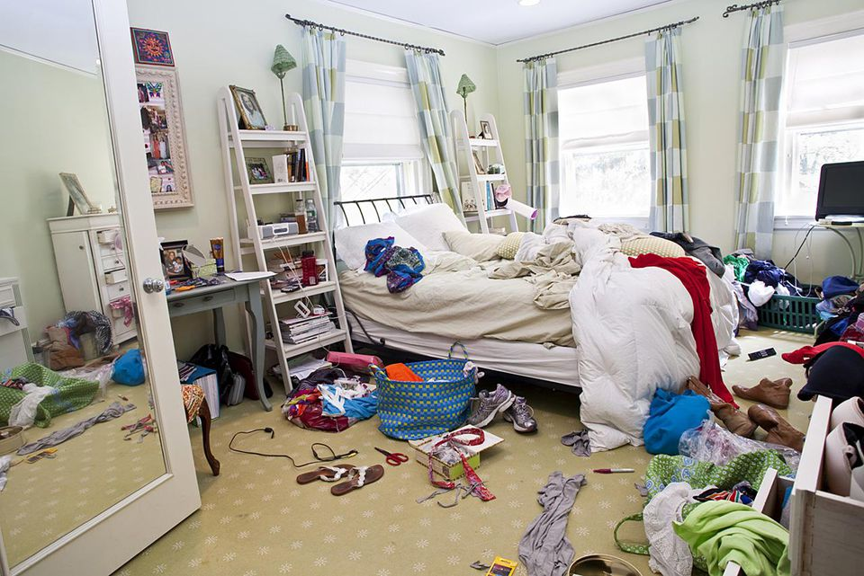 Messy Teenage Girl's Bedroom