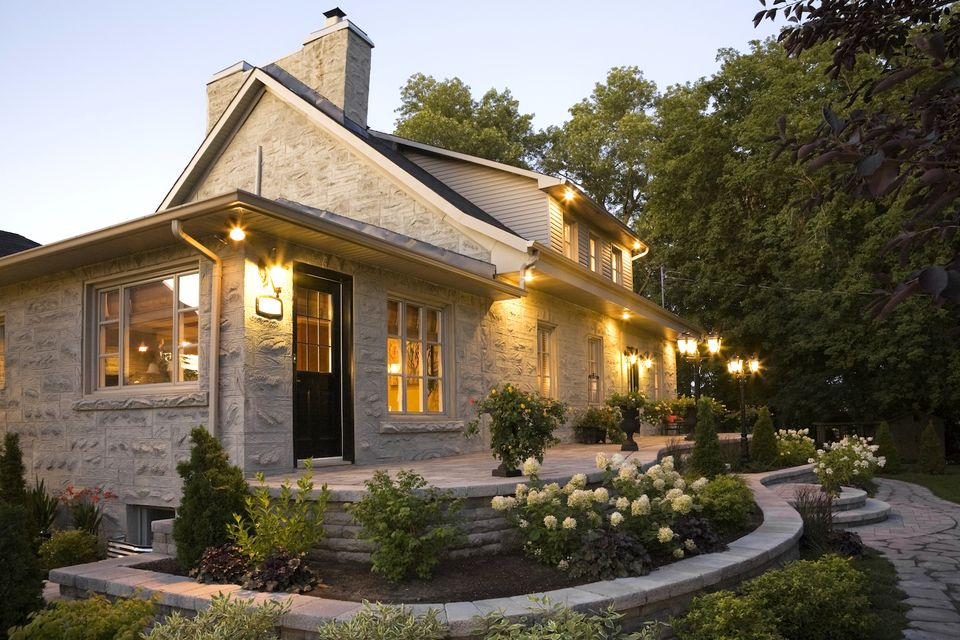 Landscape lighting show off your nighttime curb appeal - How to clean house exterior before painting ...