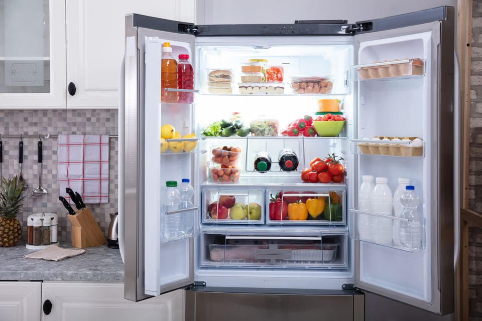 Close-up Of An Open Refrigerator