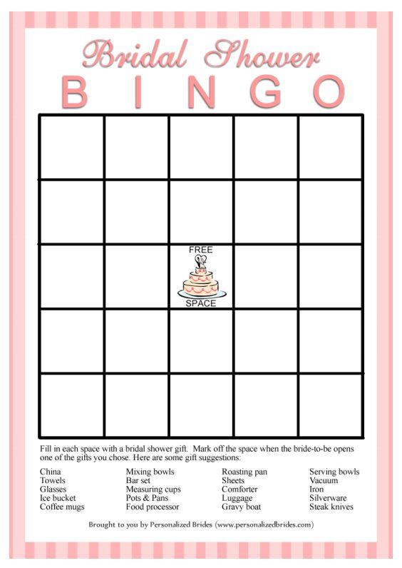 11 Free Printable Bridal Showers Bingo Cards