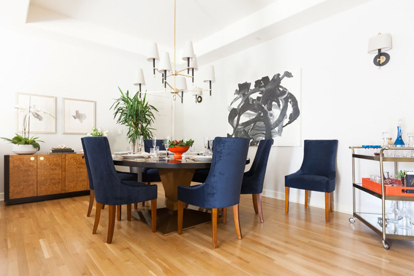 traditional dining room with a modern twist