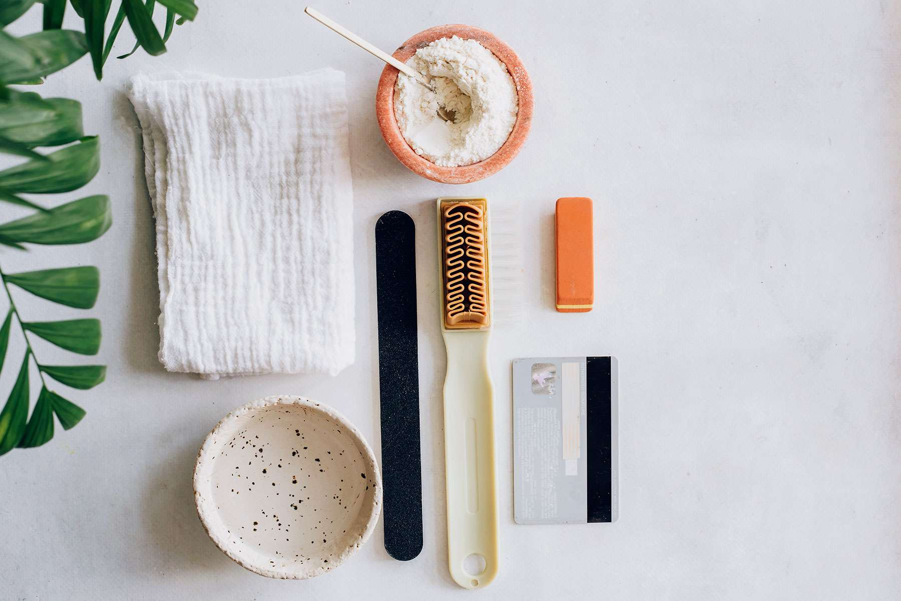 tools for removing suede stains