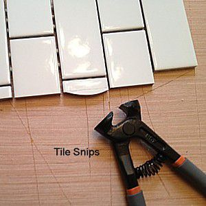 Cutting Ceramic Tile With A Hand Tile Nipper
