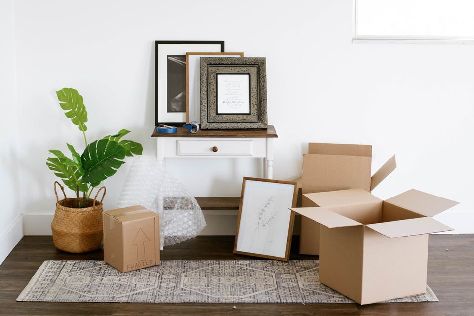 artwork and packing supplies