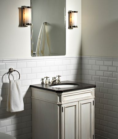 Subway tile by Ann Sacks in bathroom