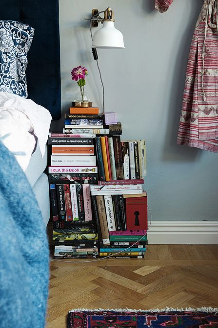 books as nightstand