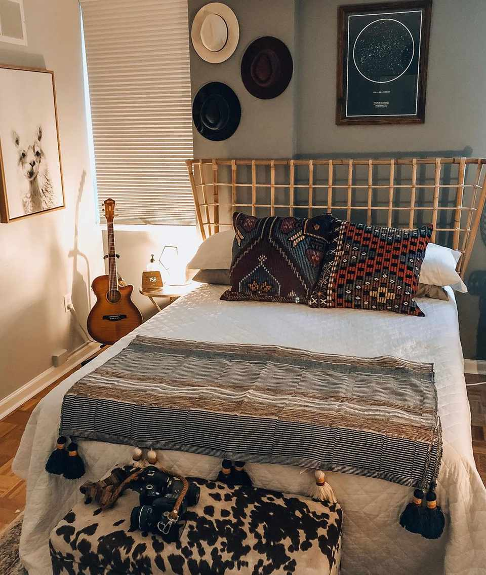 Southwestern inspired bedroom