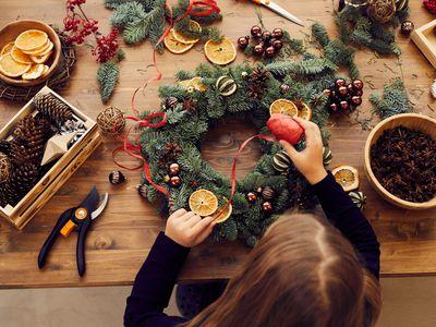 girl decorating