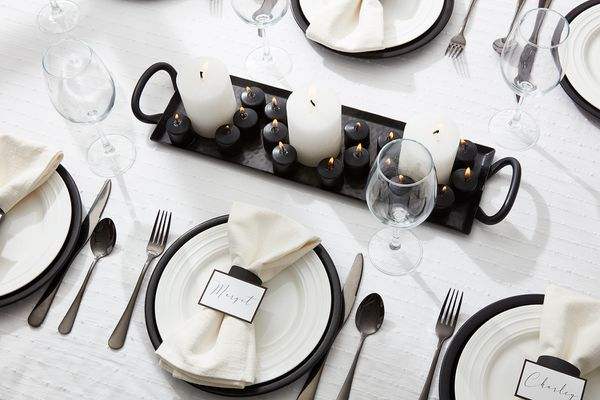 Black and white party etiquette