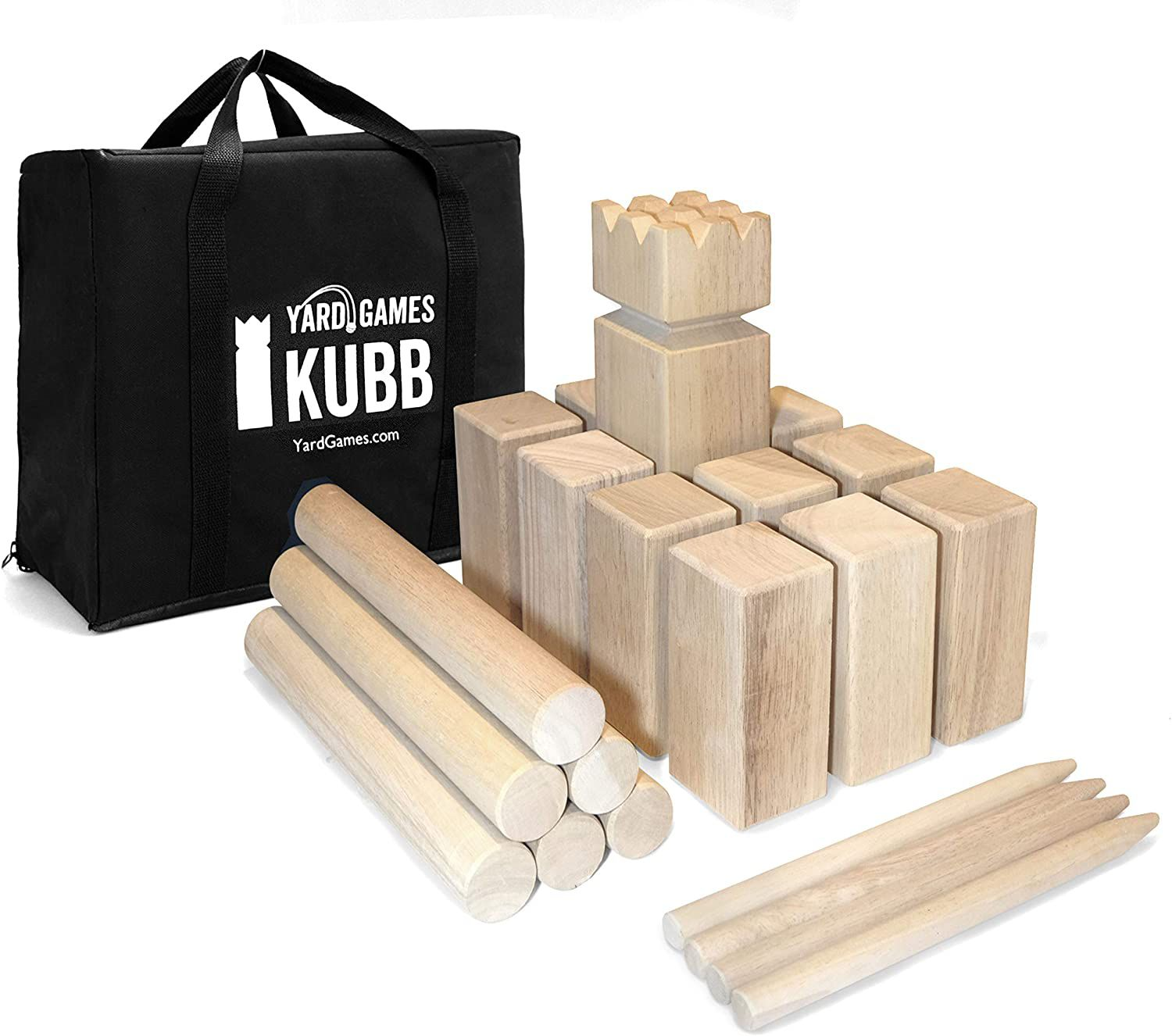 Yard Games Kubb Regulation Size Outdoor Tossing Game with Carrying Case
