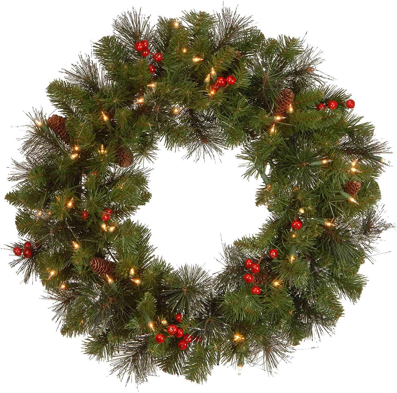 National Tree Company 24-Inch Crestwood Spruce Christmas Wreath