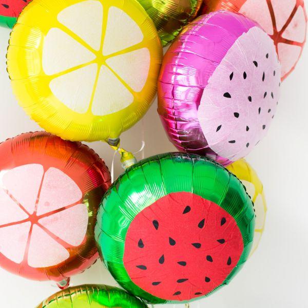 Food slice balloons