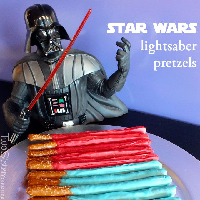 Star Wars light saber pretzels