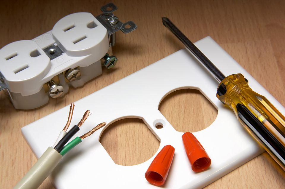 Components needed to install an electrical socket yourself
