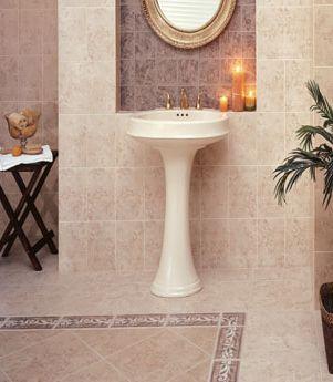 azulejo de baño en una alcoba decorativa
