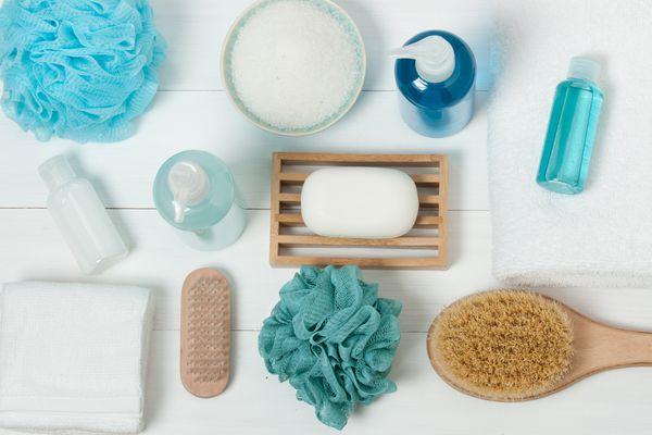 Spa Kit. Shampoo, Soap Bar And Liquid. Shower Gel. Aromatherapy