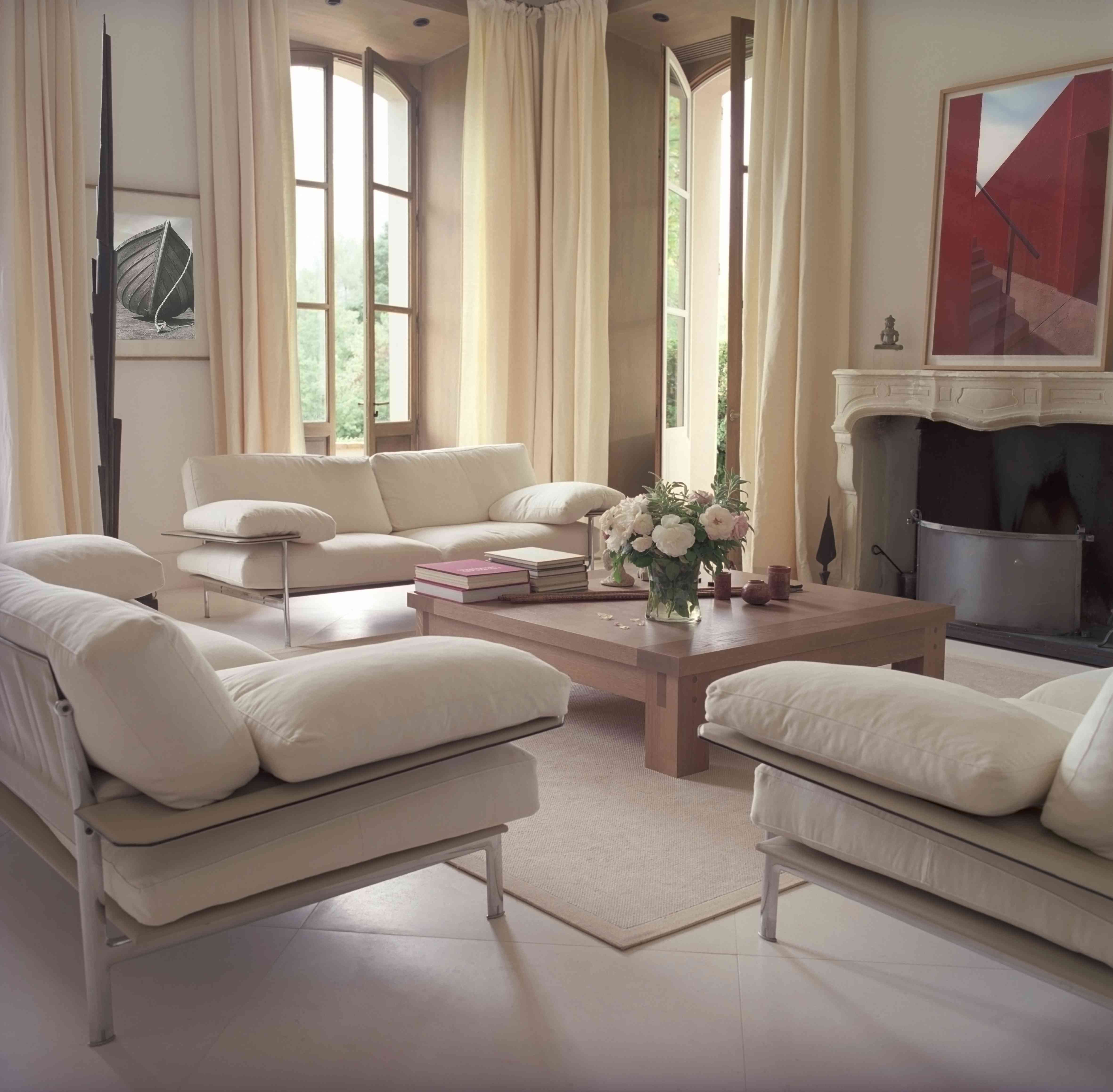 French country chateau living room.