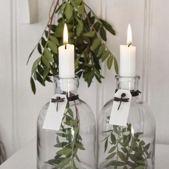floating greenery candlesticks