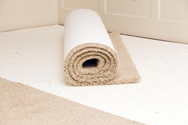 Carpet roll on a pad