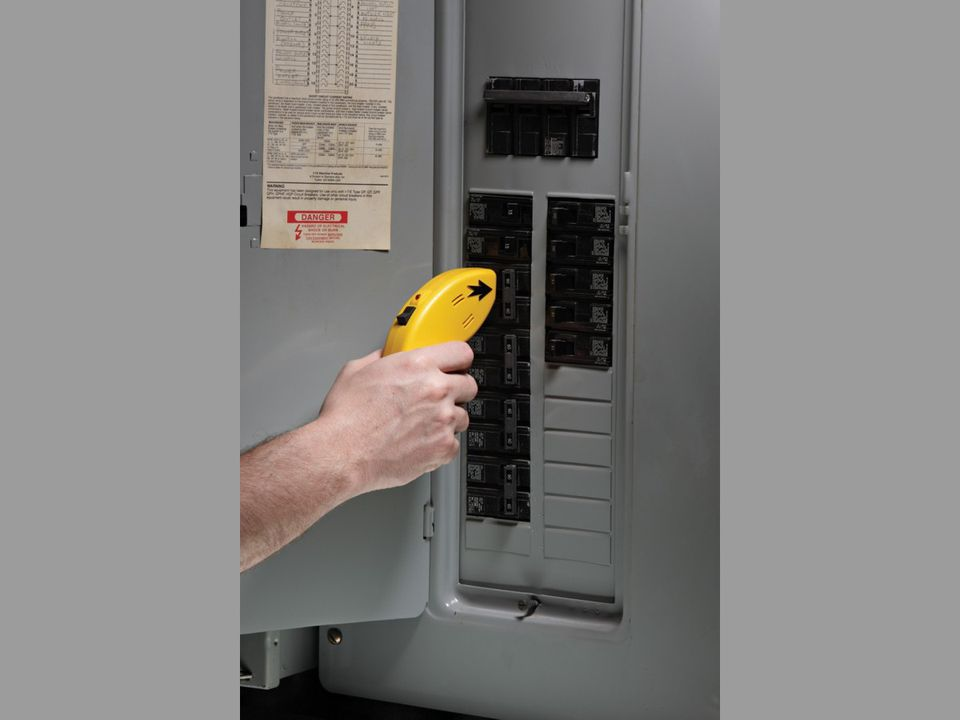 Electronic circuit finder being used in an electrical panel