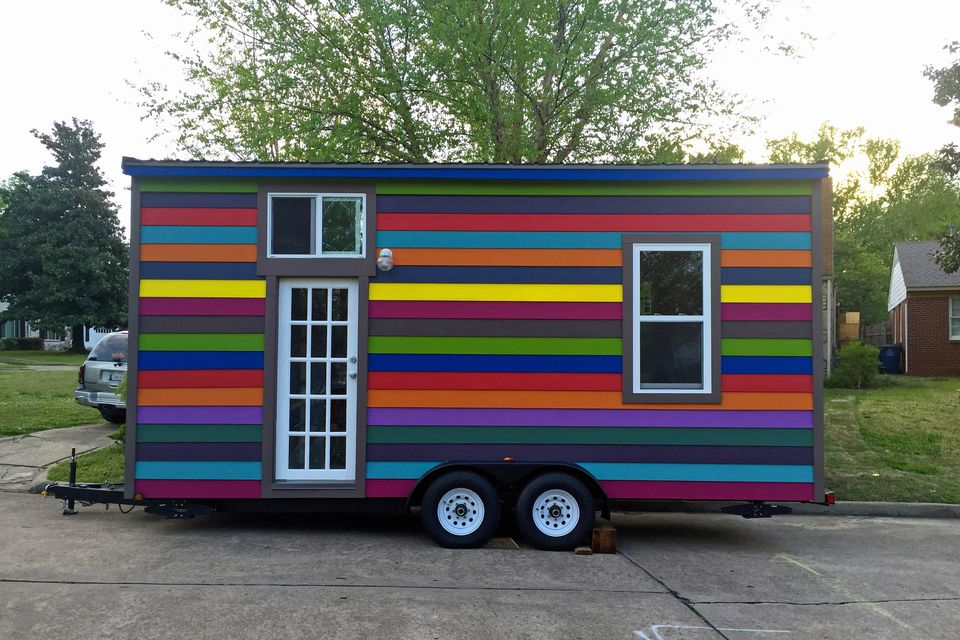 Taylors rainbow tiny house