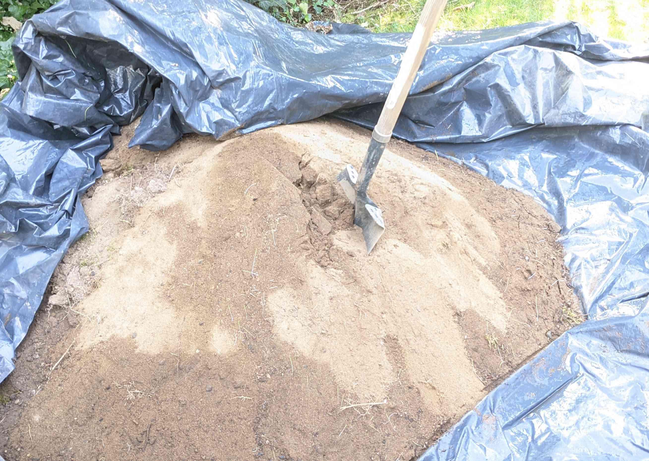 Store Dirt Under Plastic Sheeting
