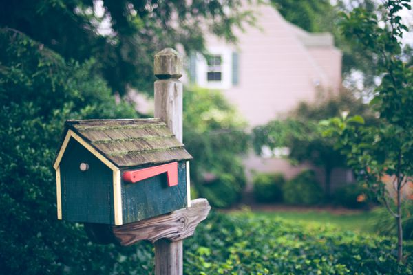 House shaped mailbox or postbox