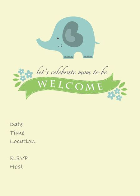 Blue Elephant Baby Shower