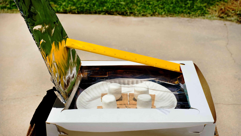 microondas de energía solar