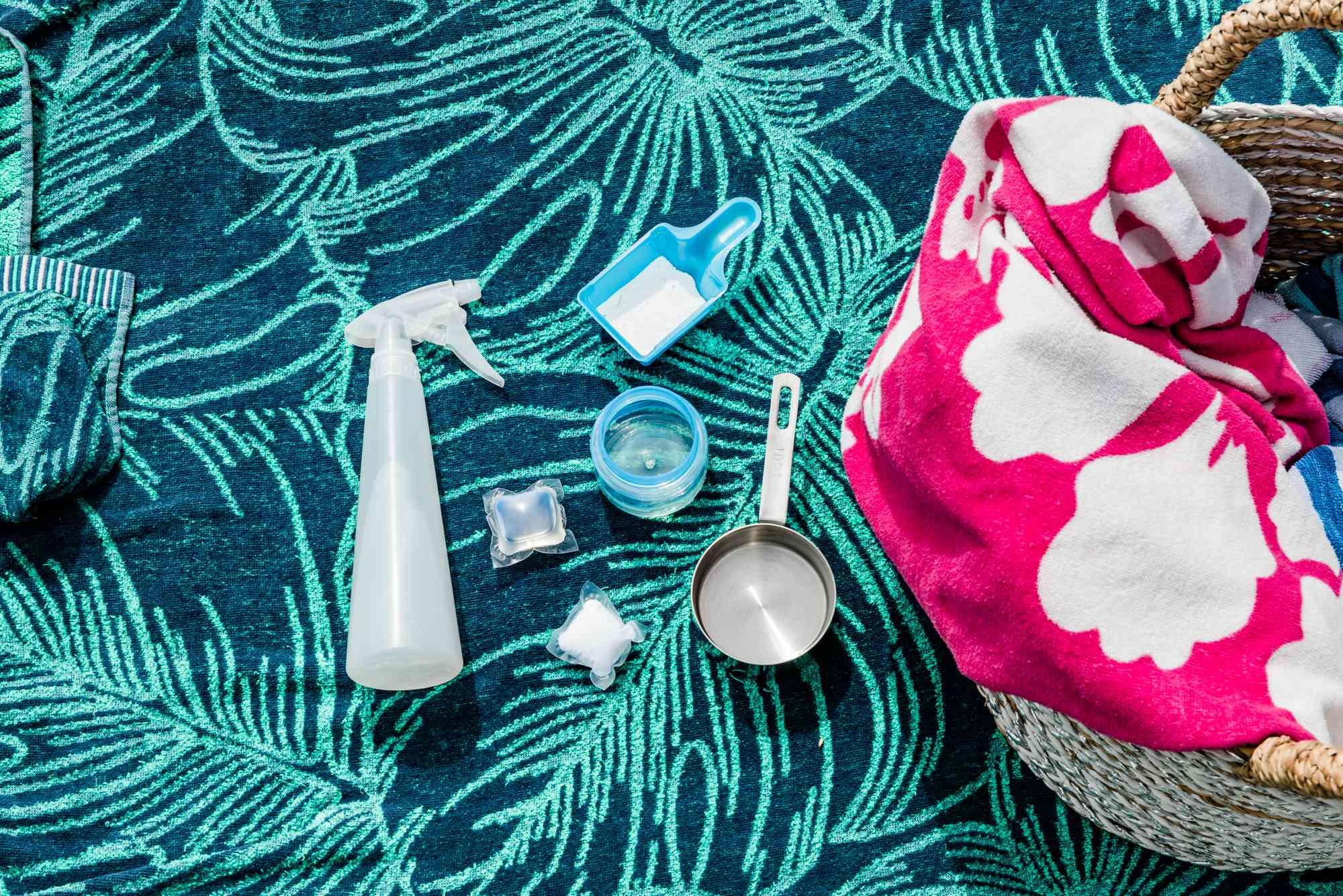 materials for cleaning beach towels