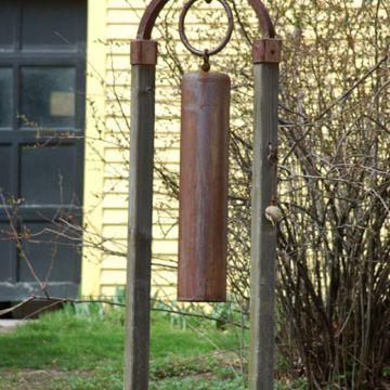 A gong as a landscape ornament
