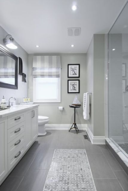 Beautiful Gray Bathroom 3sixty Designs