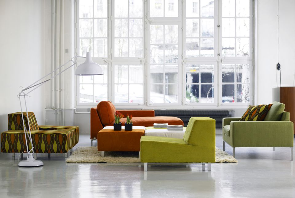 Various colored furniture