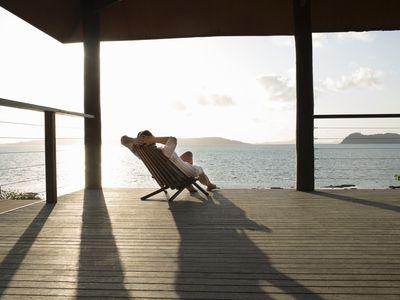 woman on veranda