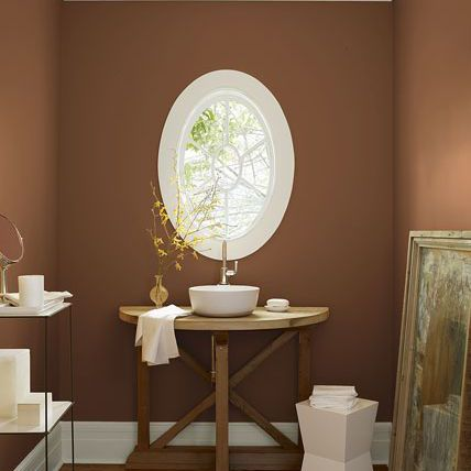 Brown Warm Earth Tones In Bathroom