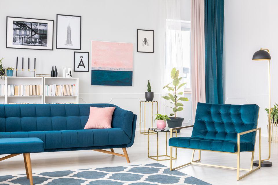 Angle view of living room