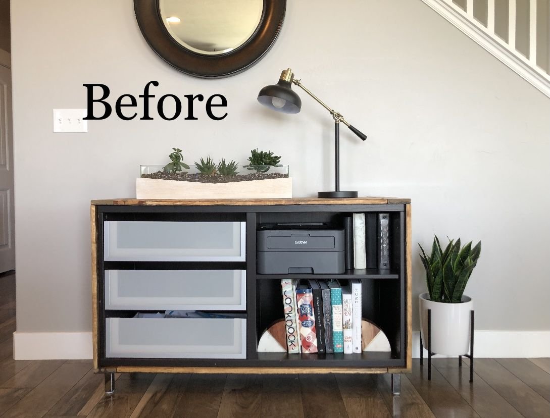 IKEA hack for Crate & Barrel-inspired sideboard BEFORE