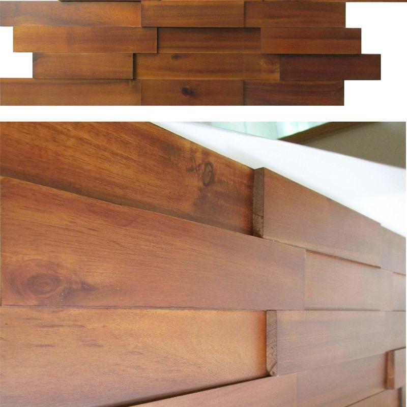 Mosaic Wood Paneling -- Acacia