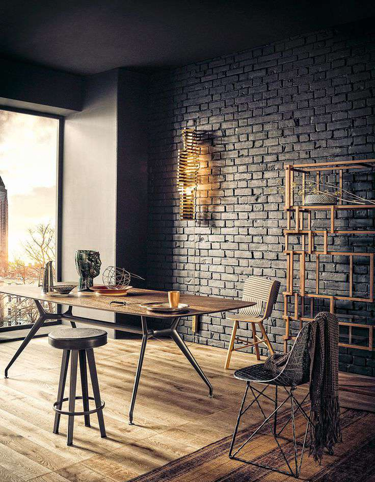 Black Dining Rooms With Chic Style - Black painted room