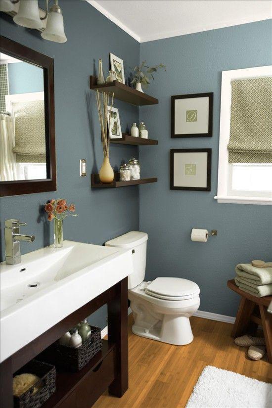 Grey And Blue Bathroom. Blue Bathroom