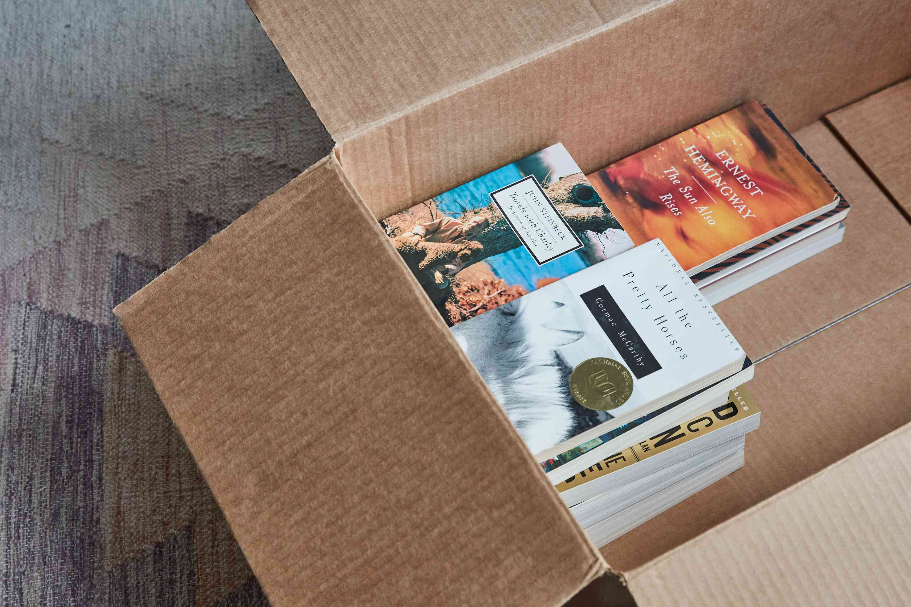 packing paperback books